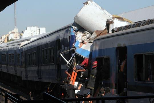 imágenes del accidente en Once. Foto: Télam