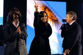 Cristina Kirchner expresó sus deseos de que Artigas haya sido argentino en un acto en Paraná, el lunes pasado, en un acto con Sergio Urribarri