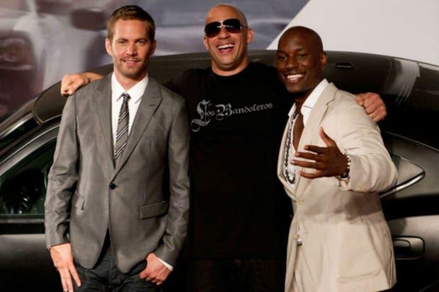 Paul Walker junto a Vin Diesel y Tyrese, sus compañeros de la saga de Rápido y furioso, quienes lo recordaron en las redes sociaes