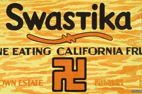 No solo el empaque de esta fruta de California sino el nombre del producto se asoció con la esvástica