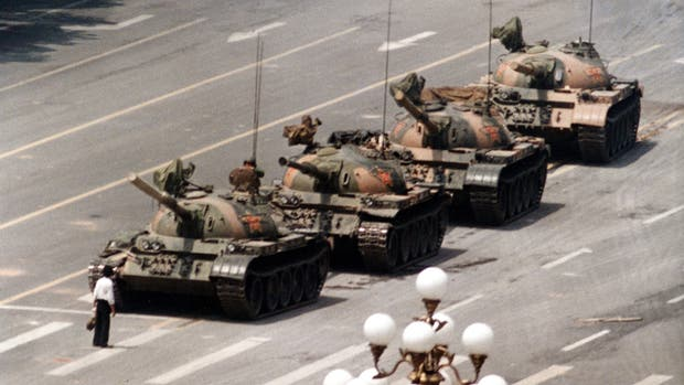 Protesta en la Plaza Tiananmen
