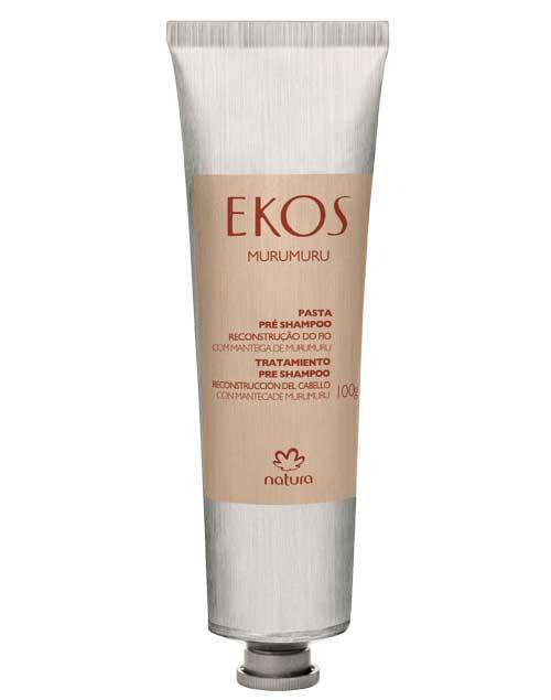 Ekos Murumuru preshampoo. Forma un escudo protector, evitando el quiebre del cabello ($220, Natura).