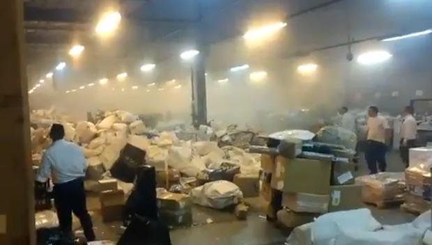Explosión en una sede del Correo Argentino