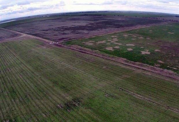 Vista aérea del campo del Ejército, en Ordóñez, provincia de Córdoba