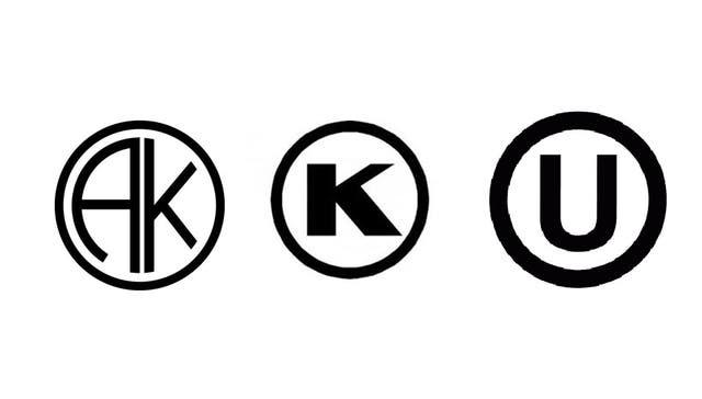Sellos kosher. AK es la certificación argentina de Ajdut Kosher; las otras son internacionales