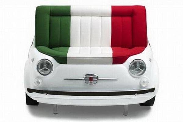 Para los fanáticos del Fíat 500, este asiento inspirado en ese modelo de auto. Fue diseñado por la compañía Meritalia en conjunto con la automotriz. ¿Cómo lo ves en el living de casa?. Foto: www.topchairdesign.com