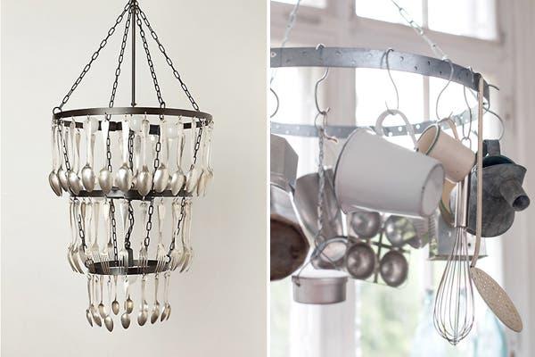Reacondicioná esa vieja lámpara que ya no usas y utilizala para guardar cubiertos, tazas y otros utensilios de cocina. Foto: Visit 4.bp.blogspot.com