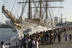 La Fragata Libertad está en Mar del Plata desde el pasado miércoles, luego de pasar 77 días retenida en Ghana