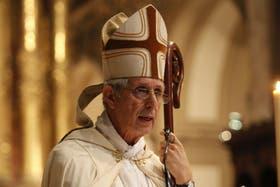 Monseñor Mario Poli, durante su primer tedeum en la Catedral Metropolitana