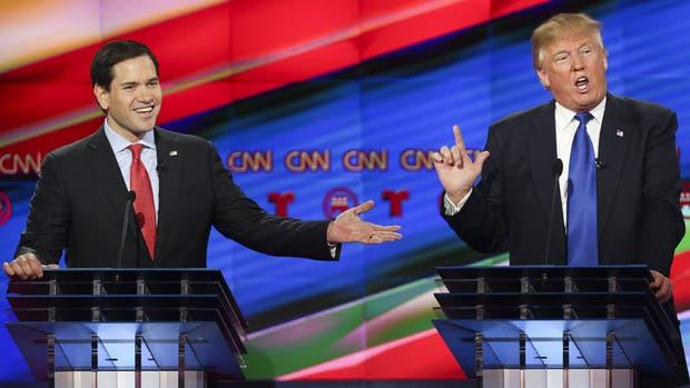 Marco Rubio logró desencajar a Trump