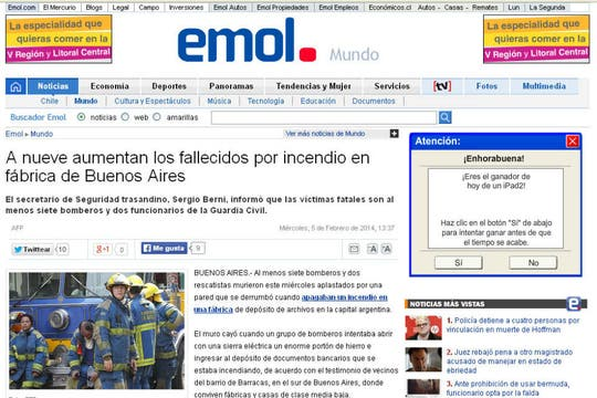 El Mercurio On Line, de Chile. Foto: Archivo