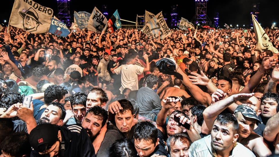 Tragedia en el recital del Indio Solari en Olavarría. Foto: LA NACION / Alejandro Casamayou