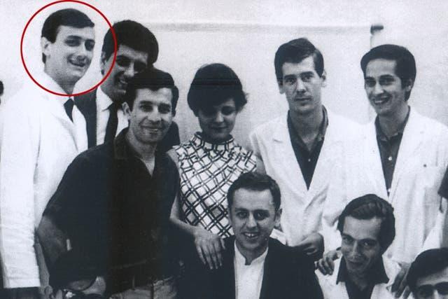 Binner, en sus épocas de estudiante de Medicina, en Rosario