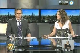 Miceli conduce el noticiero del mediodía de la emisora estatal, que no le renovará el contrato