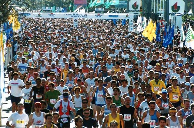 Largada Medio Maratón 1991