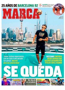 La portada de Marca