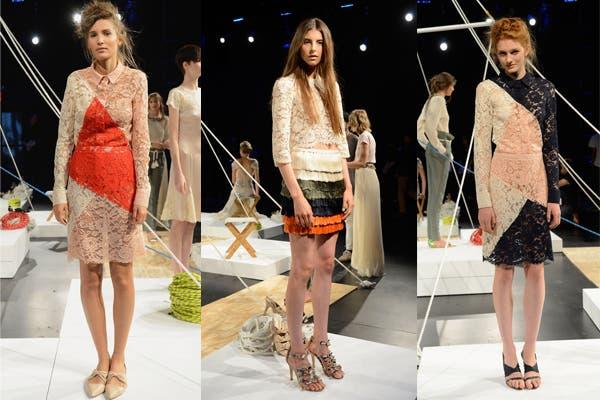 La colección de Candela, con colores y materiales bien femeninos. Foto: image.net