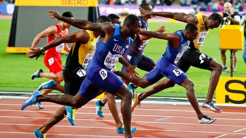 En su última carrera de los 100 metros, Usain Bolt fue tercero y ganó Justin Gatlin. Foto: Reuters / Matthew Childs