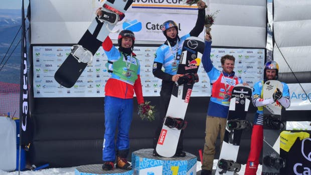 El australiano Pullin, la gran figura del fin de semana en el inicio de la Copa del Mundo de Snowboard, en Bariloche
