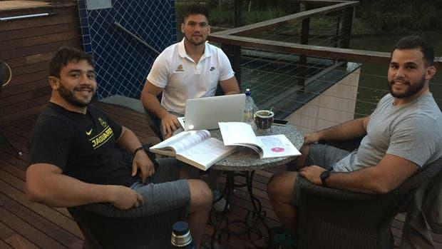 Lucas Noguera Paz, Felipe Arregui y Santiago García Botta