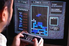 Una partida del Tetris en una consola NES