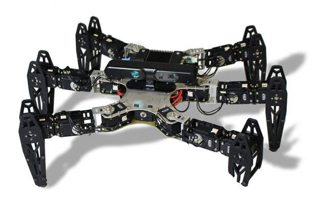 Una vista del robot empleado para poner a prueba los algoritmos para superar los daños que puede llegar a tener el equipo