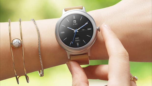 Una vista del reloj inteligente Watch Style de LG, disponible a 249 dólares