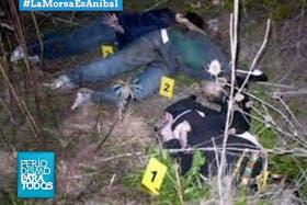 Las fotos del triple crimen difundidas anoche