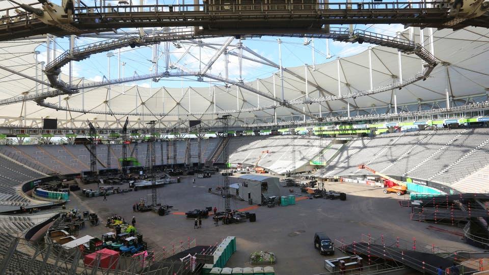 Así es el fabuloso escenario donde tocará U2 en el Estadio Único de La Plata. Foto: LA NACION / Santiago Hafford