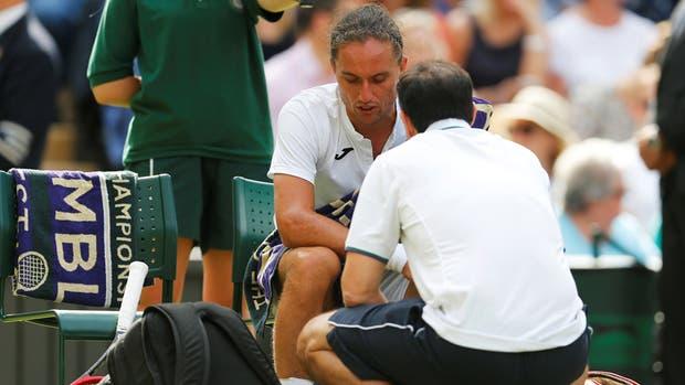 Dolgopolov jugó 43 minutos frente a Federer