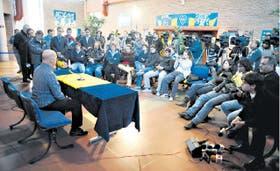 Ischia respondió ayer a las inquietudes de los periodistas en Casa Amarilla