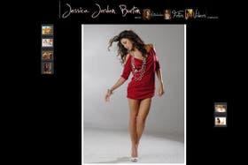 Ex miss Bolivia Jessica Jordán, actual candidata por el MAS. Fuente: Página web oficial de Jessica Jordán.
