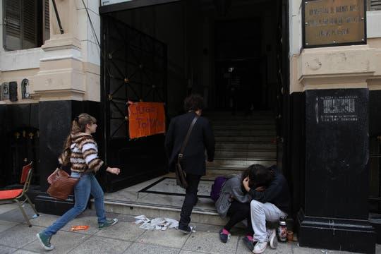 Más de 20 colegios en Capital continúan tomados por demandas edilicias, Colegio Mariano Acosta. Foto: LA NACION / Soledad Aznarez
