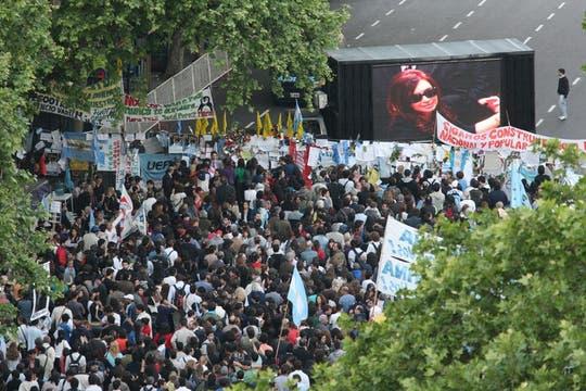 Excelentes vistas de la Plaza de Mayo durante el  velatorio del ex Presidente Néstor Kirchner. Foto: LA NACION / Alfredo Sánchez