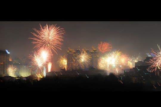En todo el mundo y con grandes festejos, China, recibe el Año Nuevo Lunar. Foto: AFP