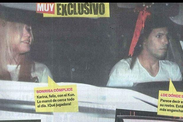 La pareja salía de un edificio de Puerto Madero cuando fue fotografiada