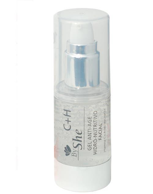 C+H Facial serum antiage. Hidronutritivo y antirradicales libres. Con Vitamina C, Acido hialurónico, urea y Aloe Vera ($129, By She)..