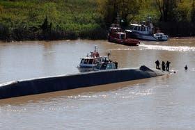 En mayo de 2012 ocurrió otro accidente entre dos buques en el río Paraná