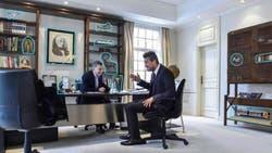 El presidente Mauricio Macri recibió a Marcelo Tinelli en su despacho de la quinta de Olivos