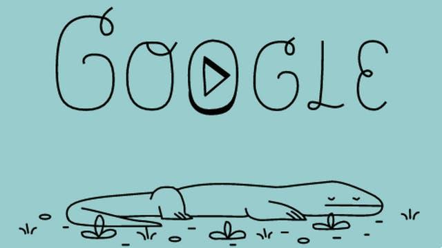 Google dedica doodle al dragón de Komodo: el sobreviviente del pleistoceno