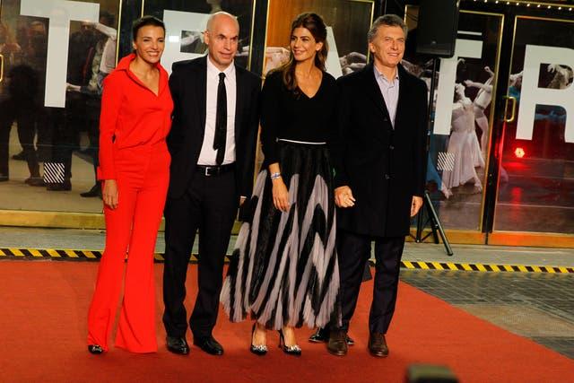 Bárbara Diez, Horacio Rodríguez Larreta, Juliana Awada y Mauricio Macri