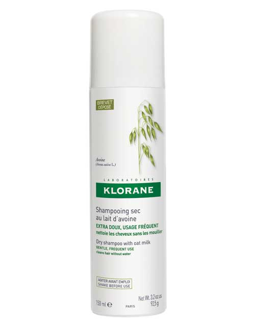 Shampoo Seco de Avena. Permite lavar el cabello sin utilizar agua y en solo dos minutos ($164, Klorane) .