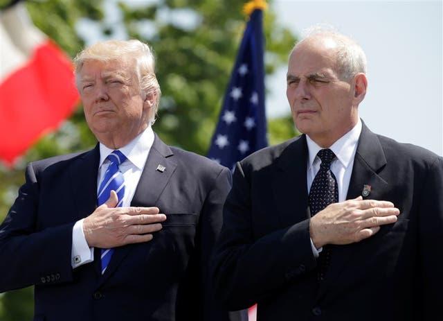 Trump considera a Kelly uno de sus funcionarios preferidos