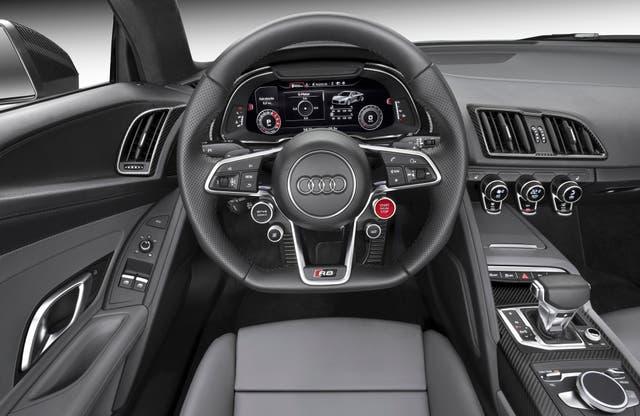 Interior deportivo para el Audi R8 Coupé V10 plus