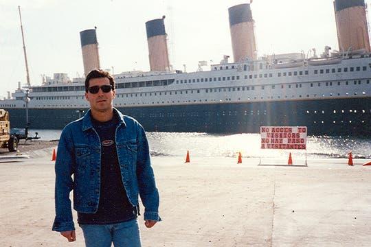 Juan Ignacio Brown, el día en que vieron al Titanic por primera vez. Foto: Gentileza Luis Incisa
