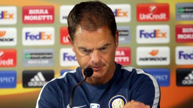 Frank De Boer es destituido del Inter de Milán