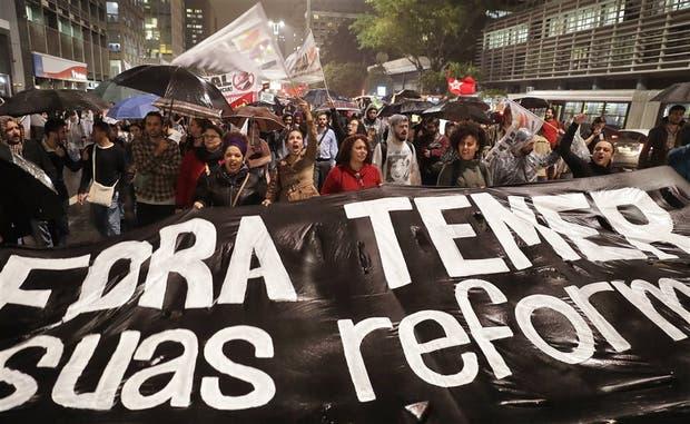 Las revelaciones sobre Temer desataron protestar en San Pablo
