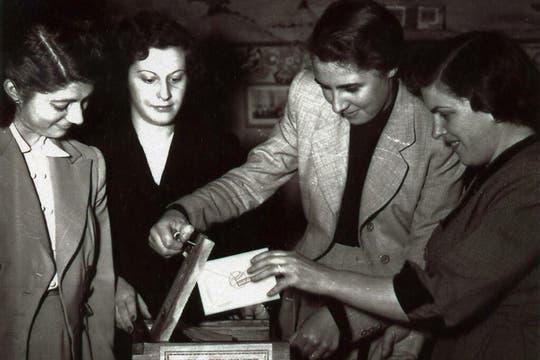 El voto femenino.