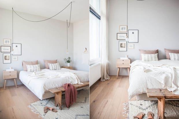 Un banco de madera puede funcionar como pie de cama: ideal a la hora de cambiarse y como superficie extra de apoyo.  /Avenuelifestyle.com