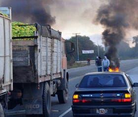 Rutas cortadas ayer, en Tucumán